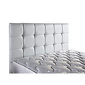 ValuFurniture Diamond Leather Headboard - White - Single 3ft - White
