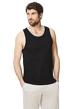 F&F Slub Jersey Vest Top with As New Technology - Black