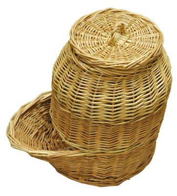 Wicker Onion Storage Hopper Basket