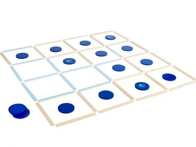 Dots And Boxes Target Game Blue - BuitenSpeel