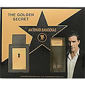 Antonio Banderas The Golden Secret Gift Set 50ml EDT + 100ml A/Shave Balm For Men