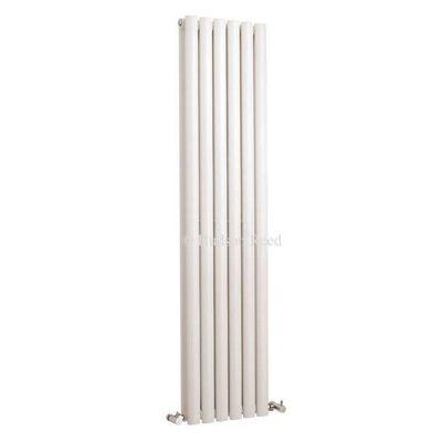 Hudson Reed Revive Double Panel Vertical Designer Radiator White 1500mm High x 354mm Wide