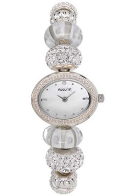 Accurist Charmed by Accurist Ladies Stainless Steel Swarovski Crystal Watch LB1448X