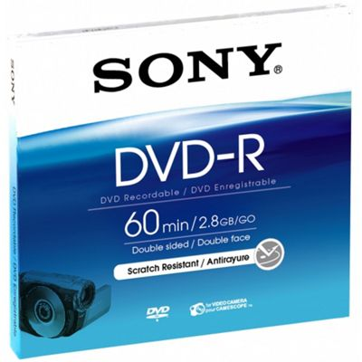 Blister of 8cm Recordable Once DVD-R DMR60A
