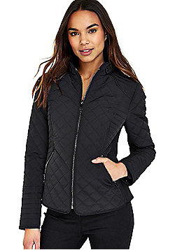 Wallis Quilted Jacket - Black