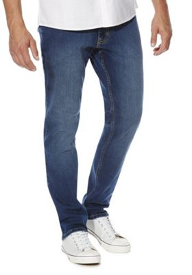F&F Stretch Slim Leg Jeans 32 Waist 34 Leg Mid wash