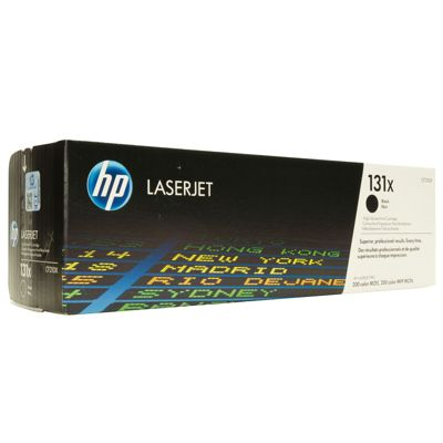 HP 131X Black Toner Cartridge (Yield 2400 Pages) for LaserJet Pro 200 Color M276n/M276nw Multifunction Printers