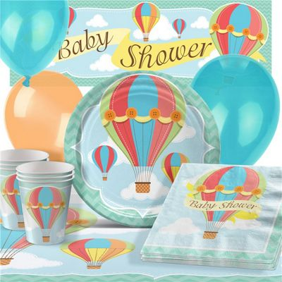 Up, Up and Away Baby Shower Party Pack - Deluxe Pack for 16
