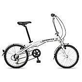 Orbita Evolution 7 Speed, 20 inch wheel aluminium folding bike with front suspension. (White)