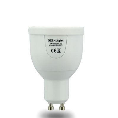 Milight GU10 White (Warm & Cool) 4W Smart Spotlight Bulb - iOS and Android controlled