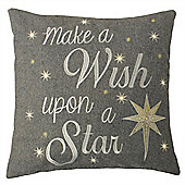 Riva Home Wish Upon A Star Light Up Christmas Cushion Cover - 45x45cm