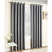 Enhanced Living Vogue Eyelet Curtains - Grey