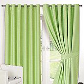 "Dreamscene Pair Thermal Blackout Eyelet Curtains, Lime - 90"" x 54"" (228x137cm)"