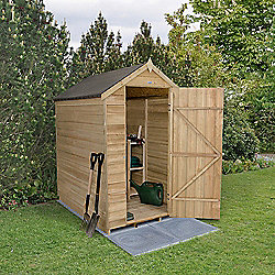 Forest Garden 6x4 Overlap Pressure Treated Apex Shed No Windows