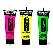 PaintGlow Set of 3 Body Paints -Pink,Yellow, Green