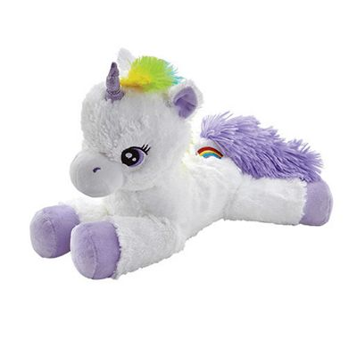 Snuggle Buddies 38cm Soft Rainbow Unicorn - Purple Lavender