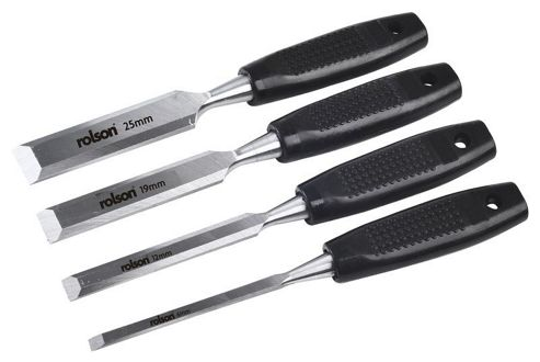 Rolson Woodworking Chisel Set (4-Piece)