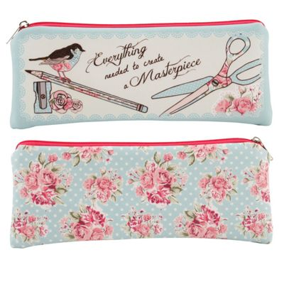 Floral Design Pencil Case