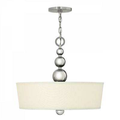 Polished Nickel 3lt Pendant - 3 x 60W E27