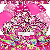 Butterfly Sparkle Deluxe Party Pack for 16