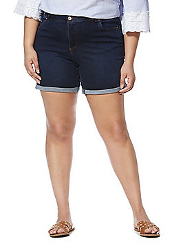 Simply Be Shape and Sculpt Plus Size Denim Shorts - Indigo