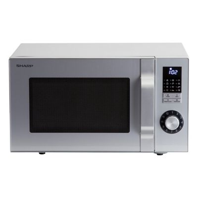 Sharp R344SLM Solo Microwave with 25 Litre Capacity and 900W in Silver