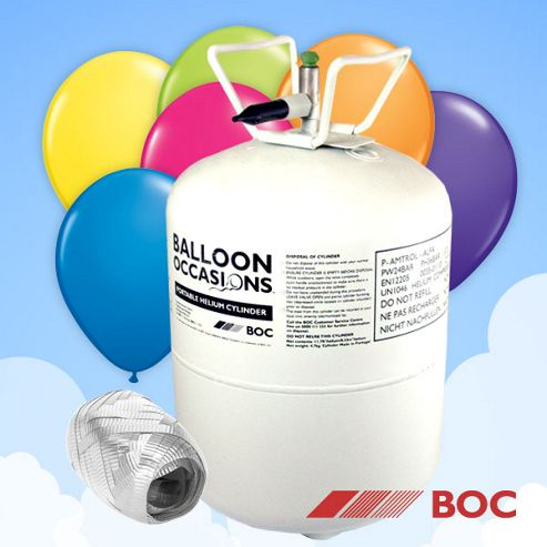 Helium Helium Canister - 40 valved balloons and ribbon included (each)