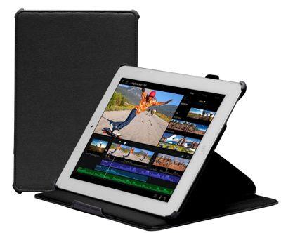 Navitech - Black tri - fold Stand Case For Apple iPad 2 3 & 4 Generation