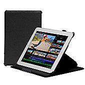 Navitech - Black tri - fold Stand Case For Apple iPad 2 3 & 4 Generation
