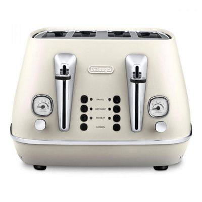 De'Longhi Distinta 4 Slice Toaster - White