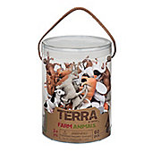 Battat Terra Farm Animals 60pcs
