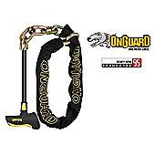 Onguard Beast Chain Bike Lock With Heavy Duty Steel Rod 8017LPT