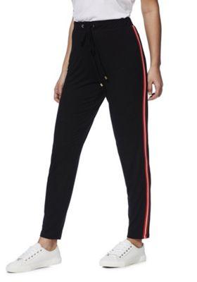 F&F Side Stripe Trousers Black 20