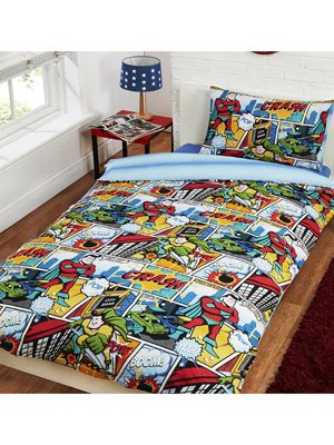 Comic Strip Single Duvet Cover Set