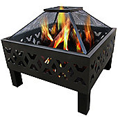 Charles Bentley Wave Design Steel Fire Pit
