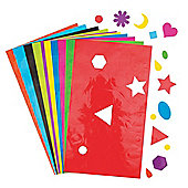 Geometric Shape Stickers for Children to Decorate & Embellish Cards Collage and Crafts - Great for Learning (Pack of 350)
