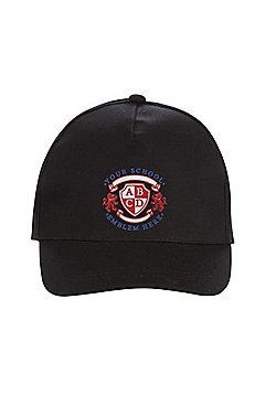 Unisex Embroidered School Cap - Black