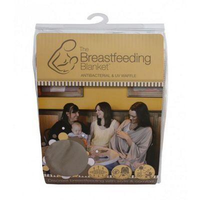 Bebitza Breast Feeding Blanket - Antibacterial & UV Waffle - Taupe