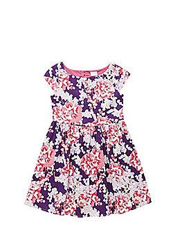 F&F Floral Print Heart Back Dress - Multi