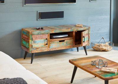 Coastal Chic Wooden Widescreen TV Cabinet - Baumhaus