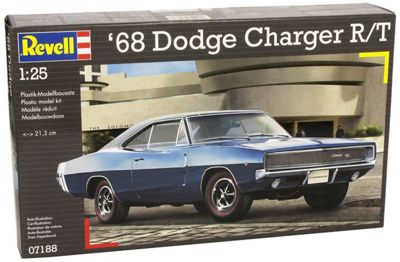 Revell 1968 Dodge Charger R/T 1:25 Model Car Kit - 07188