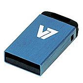 V7 Nano USB 2.0 Flash Drive 4GB Blue