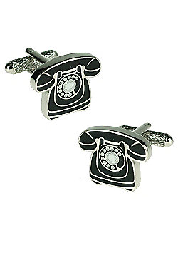 Classic Telephone Novelty Themed Cufflinks