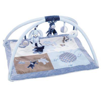 Nattou Alex And Bibou- Baby Playmat With Arches (blue) Gym