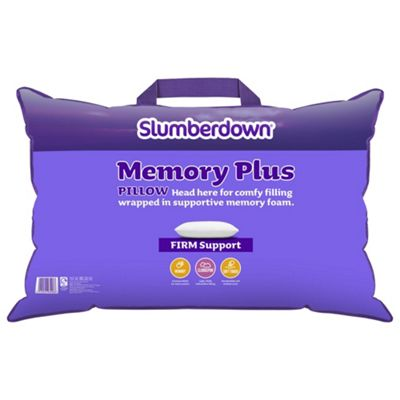 Slumberdown Hollowfibre & Memory Foam Pillow