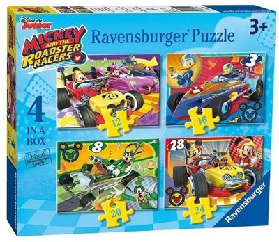 Mickey and the Roadster Racers - 4 in 1 Puzzle