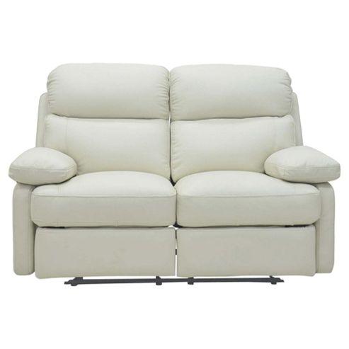 Cordova Leather Small Recliner Sofa Ivory