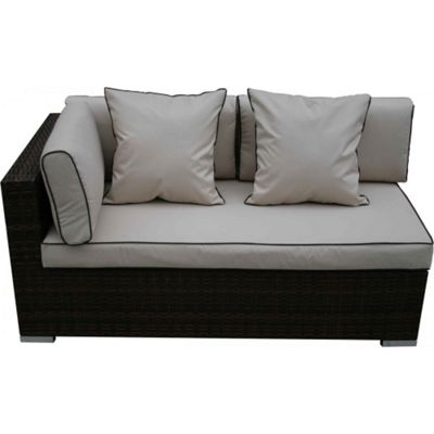 Monaco Day Bed Sofa - Right Armed in Chocolate Mix and Coffee Cream