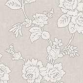 Superfresco Easy New England Rose Paste The Wall Taupe Wallpaper