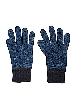 Mountain Warehouse Kids Two Tone Melange Thinsulate Glove - Blue